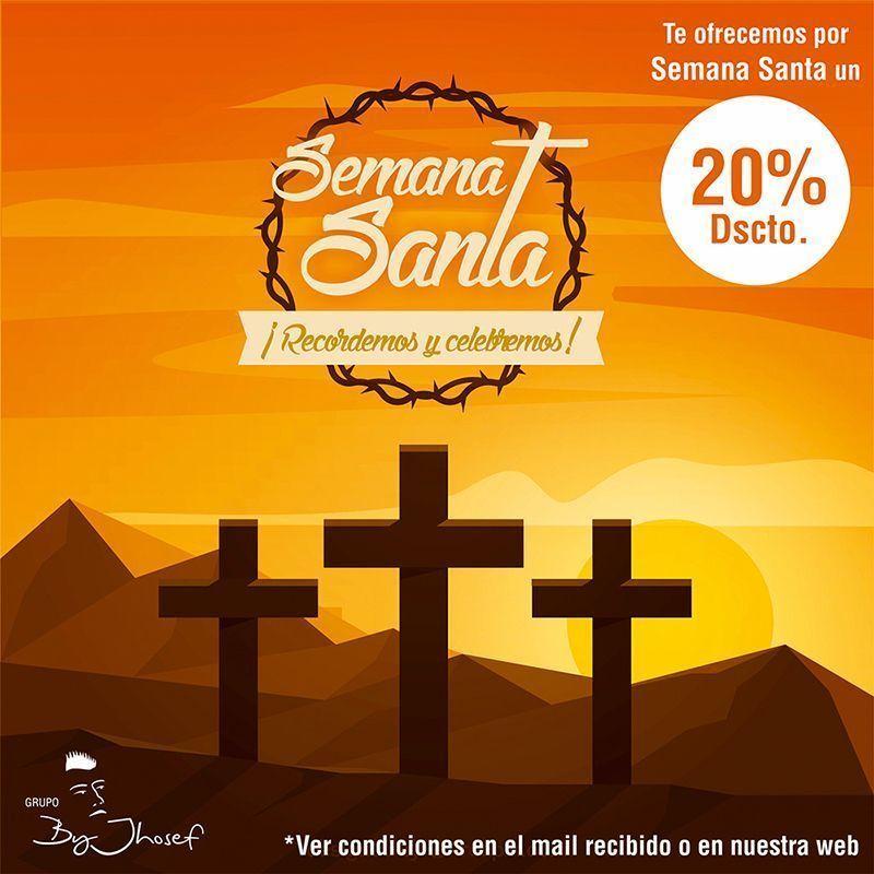 20% de descuento (en carta) solo en Semana Santa