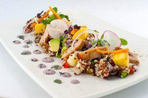 Ayara ensalada de Quinoa en Restaurante Piscomar